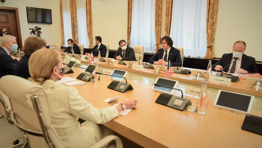 Meeting of Majority Leader, Irakli Kobakhidze and Members of Faction Georgian Dream with US Senators