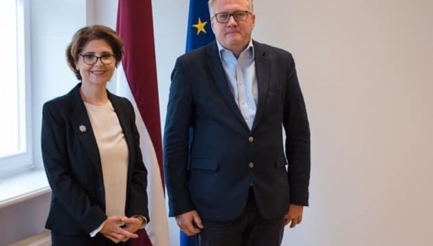 The meeting of Eliso Bolkvadze with the Chair of the Education, Culture and Science Committee of the Latvian Parliament