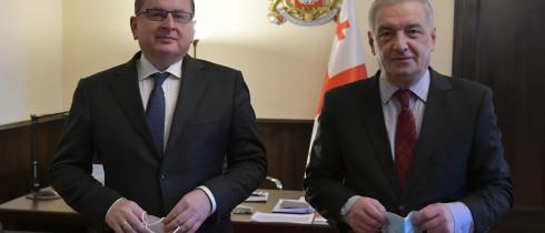 გიორგი ვოლსკი საქართველოში ევროკავშირის სადამკვირვებლო მისიის ხელმძღვანელს შეხვდა
